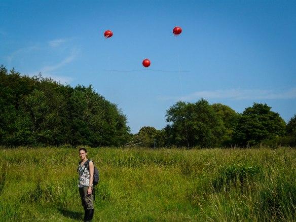 John Selker's Balloon idea in Denmark with Athena from Silixa wondering ...