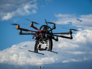 Test flying UWA's octocopter