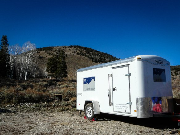 UNR's DTS Trailer in Great Basin National Park